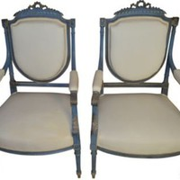 French Chairs, Pair - One Kings Lane - Vintage & Market Finds - Furniture