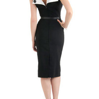 Bettie Page Folded Fatale Dress | Mod Retro Vintage Dresses | ModCloth.com