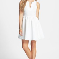 Everly Notch Neck Skater Dress (Juniors)