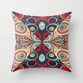 Summer Swirl Throw Pillow by DuckyB (Brandi)