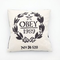 OBEY CLOTHING FLOUR SACK PILLOW - WOMENS ACCESSORIES BY OBEY CLOTHING
