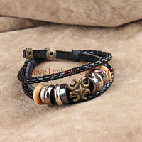 Jewelry bangle leather bracelet men leather cuff bracelet women leather wrist bracelet antique jewelry friendship gift  UL-5