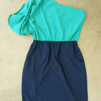 Billowing Jade Party Dress | deloom