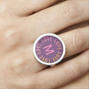 Love Monogram ring