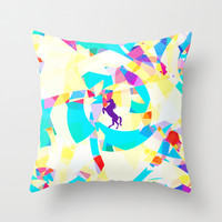 Unicorn World Throw Pillow by Ornaart