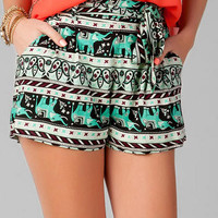 MONTEVALLO ELEPHANT PRINTED SHORTS