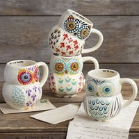 Folk Owl Mugs