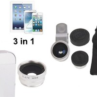 Smartphone Camera Lens Kit - Wide Lens, Macro & Fisheye!