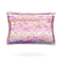 "Marianna Tankelevich ""Broken Pattern"" Pink Purple Cotton Pillow Sham"