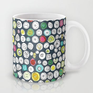 buttons and bees slate Mug by Sharon Turner | Society6