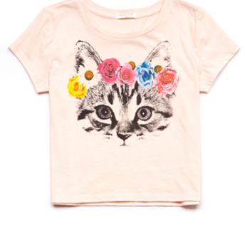 Flower Cat Tee (Kids)