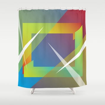 Abstract 109 Shower Curtain by Ramon Martinez Jr