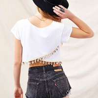 Urban Renewal Shell- Trim Cropped Tee - Urban Outfitters