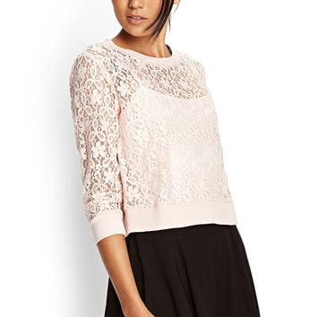 Floral Lace Boxy Top
