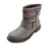 STAR-STUDDED AMERICANA ANKLE BOOTS