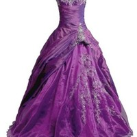 Faironly Women's Strapless Prom Gown Ball Dress