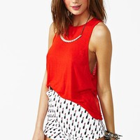 Deep Cut Tank - Red
