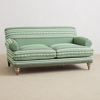 Yarn-Dyed Willoughby Settee by Anthropologie Green One Size Furniture