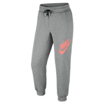 Nike AW77 Fleece Logo 26 Cuffed Men's Pants - Dark Grey Heather