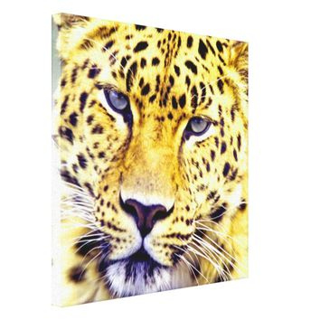 LEOPARD HEAD PORTRAIT ART CANVAS