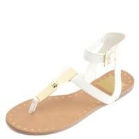GOLD-PLATED GLADIATOR THONG SANDALS