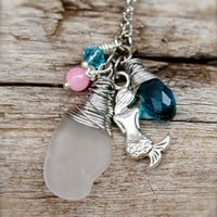 Mermaid Jewelry from Hawaii - Sea Glass Necklace - Seaglass Jewelry - Hawaiian Jewelry - Mermaid Necklace - Beach Boho Necklace from Hawaii