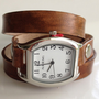 Leather Wrap Watch Cuff Bracelet Made to by LoveThatLeather