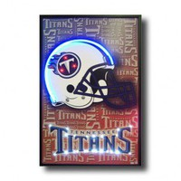 Neonetics Tennessee Titans Neon Poster Sign - Tennessee Titans Lighted Poster - All Wall Art - Wall Art &amp; Coverings - Decor
