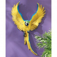 Design Toscano Phineas the Flapping Macaw Bird Wall Sculpture - QL129918 - All Wall Art - Wall Art & Coverings - Decor
