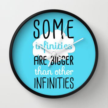 Some Infinities - The Fault In Our Stars Wall Clock by Tangerine-Tane | Society6