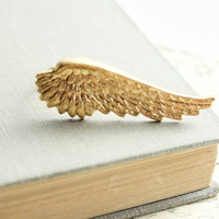 Unique Ring Golden Fairy Wing Nature Inspired by apocketofposies