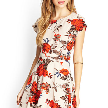 Nature-Inspired Skater Dress