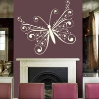 Housewares Vinyl Decal Butterfly Home Wall Art Decor Removable Stylish Sticker Mural Unique Design for Room