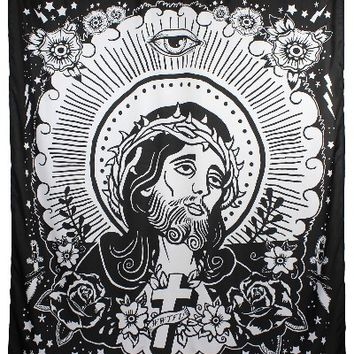 """Jesus"" Shower Curtain by Too Fast"