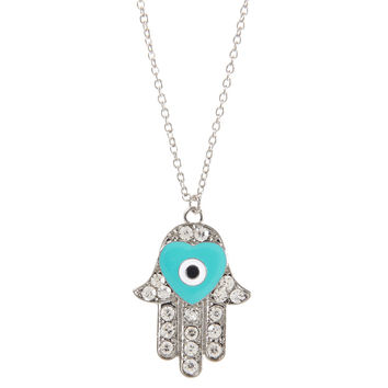 Hamsa Long-Strand Necklace