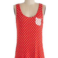 ModCloth Tank top (2 thick straps) Anytime Is Right Top