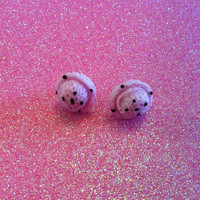 Lavender Ice Cream Scoop Stud Earrings 1 pair by JMxSweets on Etsy