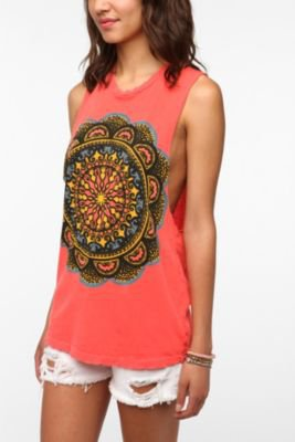 UrbanOutfitters.com &gt; Title Unknown Sun Medallion Muscle Tee