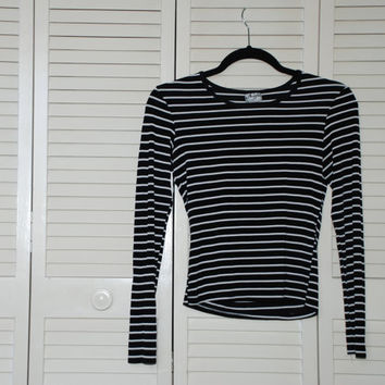 Striped Long Sleeve Vintage Blouse