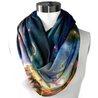 Mystic Mountain Nebula Circle Scarf by shadowplaynyc on Etsy