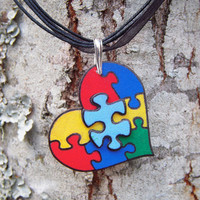 A is for Autism Necklace by CreativeFiasco on Etsy