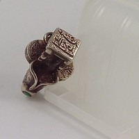 Antique Silver Turkoman Signet Ring for Abdu Allam | craftsofthepast - Antiques on ArtFire