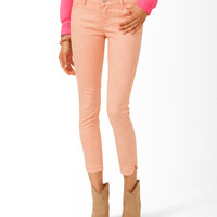 Mineral Wash Cropped Skinnies