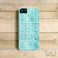 Turquoise Pines  - iPhone 5 case, iPhone 4/4s case, Samsung Galaxy S3/S4