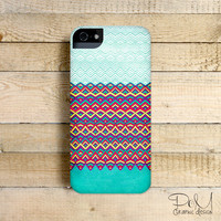 Horizons Chevron Teal - iPhone 5/5c case, iPhone 4/4s case, Samsung Galaxy S3/S4