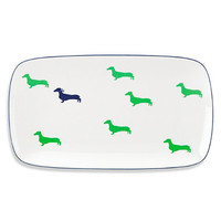 kate spade new york 15-Inch Wickford Daschund Hors D'oeuvres Tray