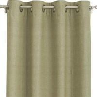"""Olive Chambray Grommet 52""""x84"""" Curtain Panel"""