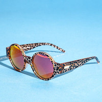 Le Spec 'Rabbit Hole' Cheetah Sunnies