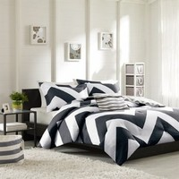 Mizone Libra Comforter Set - Black - Full/Queen