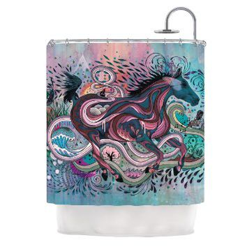 Kess InHouse Mat Miller Poetry in Motion Shower Curtain, 69 by 70-Inch